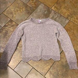 Womens S Francescas Grey Chenille Sweater